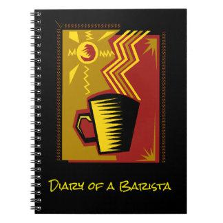 Gedächtnis-Zeitschriften-Buch Barista Spiral Notizblock