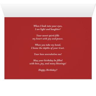 Gedanken von Ihnen Geburtstag Karte