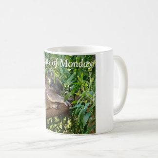 """""""Gedanken von Montag"""" Tasse mit einem niedlichen"""