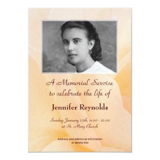 Gedenkveranstaltung-Mitteilung 12,7 X 17,8 Cm Einladungskarte