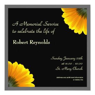 Gedenkveranstaltung-Mitteilung Quadratische 13,3 Cm Einladungskarte