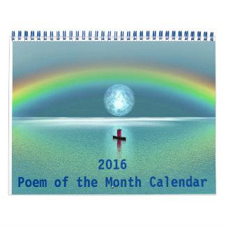 Gedicht 2016 des Monats-Kalenders Abreißkalender