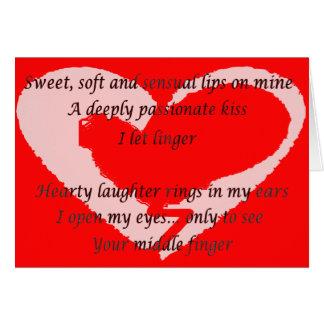 Gedicht der Anti--Valentinsgrüße Tages- besonders Karte