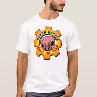 Gedränge-Meister - dienen Sie das Team T-Shirt