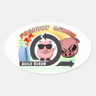 Gedränge-Produkt-Inhaber - beweglich Ovaler Aufkleber