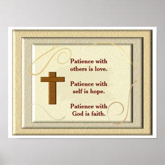 Geduld mit Gott - Kunstdruck Poster