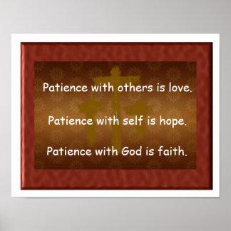 Geduld mit Gott Poster