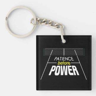 """""""Geduld vor Power"""" Pickleball Keychain Schlüsselanhänger"""