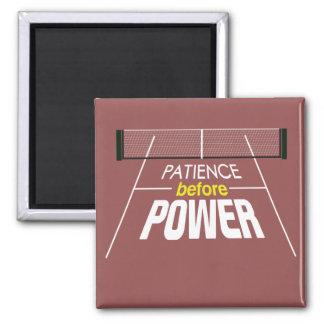 """Geduld vor Power"" Pickleball Magnet"