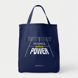 """""""Geduld vor Power"""" Pickleball Taschen-Tasche Einkaufstasche"""