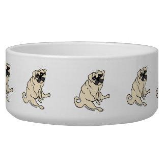 Geduldige Mops-Hundeschüssel Napf