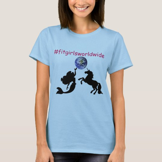 Geeignete Mädchen-weltweites T-Stück T-Shirt