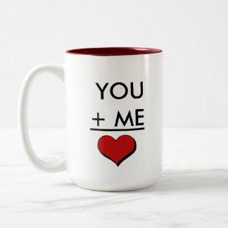Geek-Liebe-Mathe Zweifarbige Tasse