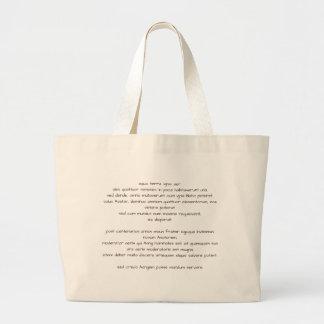 Geeky lateinische Tasche