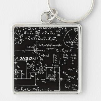 Geeky Mathe-Mathematik personalisiert Schlüsselanhänger