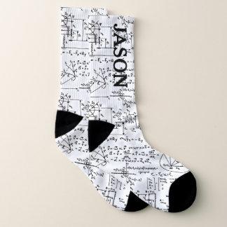 Geeky Mathe-Mathematik personalisiert Socken