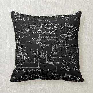 Geeky Mathe-Mathematik-Schwarzes Kissen