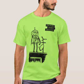 Geeky Roboter-Selbstmord-T - Shirt