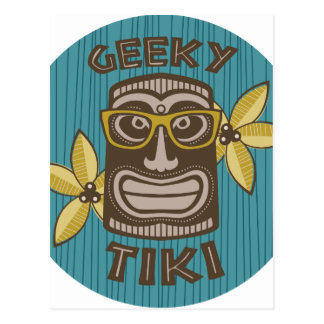 Geeky Tiki Postkarte