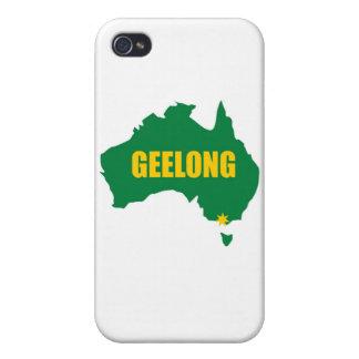 Geelong Grün und Goldkarte iPhone 4/4S Hülle