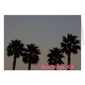 Geerntete Palmen, San Diego, CA Karte