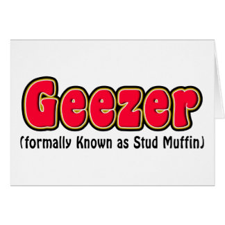 Geezer-oder Bolzen-Muffin-Großvater-Karten Karte