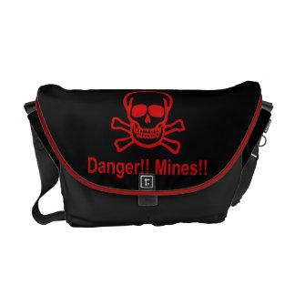 Gefahr!! Bergwerke!! ☠ kambodschanisches Kurier Taschen