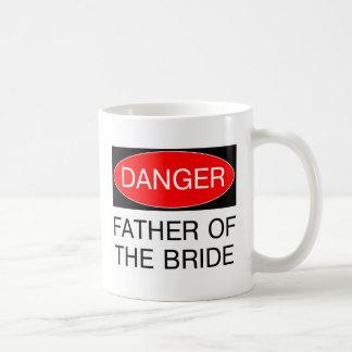 Gefahr - Vater des Braut-lustigen Hochzeits-T - Tasse