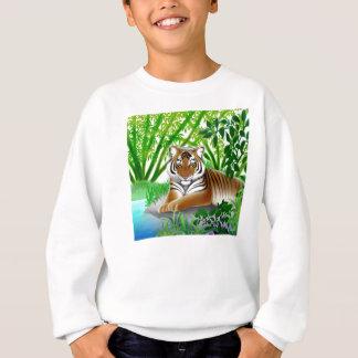 Gefährdeter Sumatran Tiger scherzt Sweatshirt