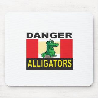 Gefahrenalligatorwarnung Mousepads