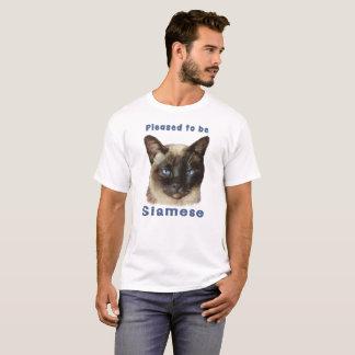 """""""Gefallen, um siamesische"""" niedliche bunte T-Shirt"""