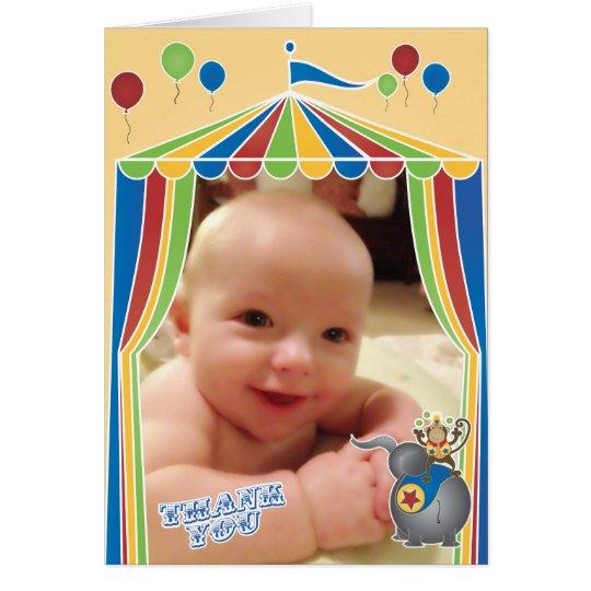 Gefalteter Zirkus danken Ihnen Anmerkungen mit Mitteilungskarte