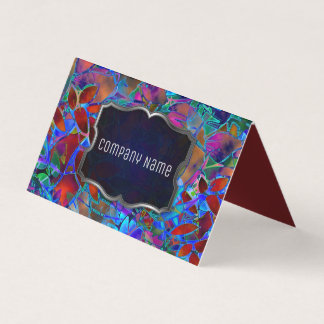 Gefaltetes Geschäfts-Karten-abstraktes beflecktes Visitenkarten