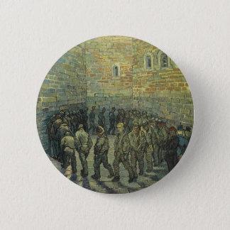 Gefangene, die durch Vincent van Gogh trainieren Runder Button 5,7 Cm