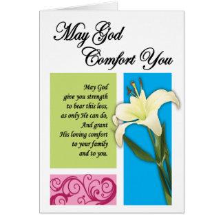 Gefängnis-Karten - Gott-Komfort Grußkarte