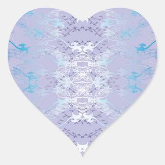gefärbt Herz-Aufkleber