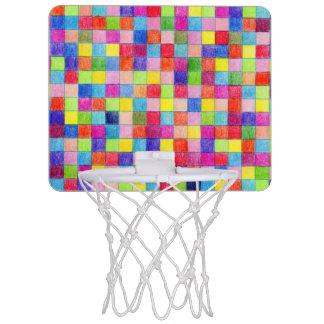 Gefärbt in den Zeichenpapiers- mit Mini Basketball Netz