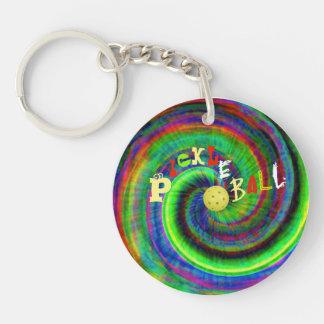Gefärbte Krawatte Pickleball Keychain Schlüsselanhänger