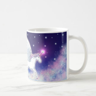 Geflügeltes Einhorn mit Sternen Kaffeetasse