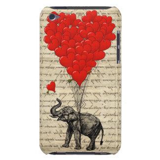 Geformte Ballone des Elefanten und des Herzens iPod Touch Case