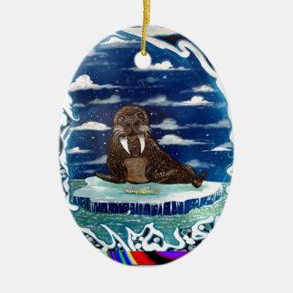 gefrorene Abendessen walrs Ovales Keramik Ornament