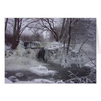 Gefrorene Wasserfall-Weihnachtskarte - Karte