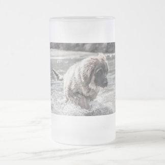 Gefrorenes Leonberger Mattglas Bierglas