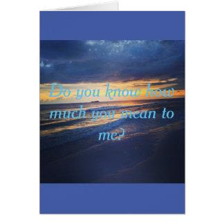 Gefühl-Karte - Ausdrücken der Liebe Karte
