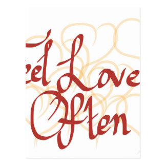 Gefühl-Liebe häufig Postkarte