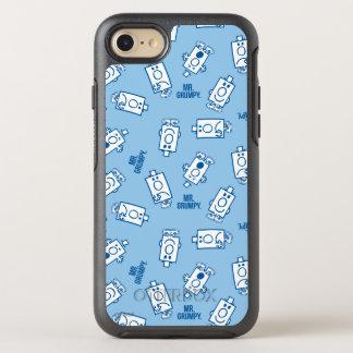 Gefühl-Wurf-Muster Herr-Grumpy | blaues OtterBox Symmetry iPhone 8/7 Hülle