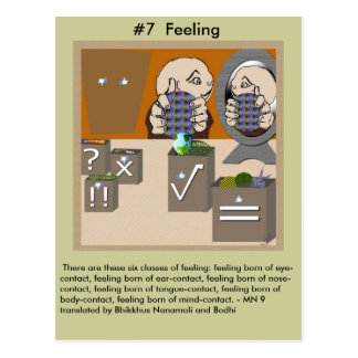 Gefühle #7 - vom abhängigen Entstehen Postkarte