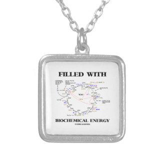 Gefüllt mit biochemischer Energie (Krebs Zyklus) Halskette Mit Quadratischem Anhänger