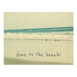 Gegangen zum Strand! Adressenänderung Postkarten