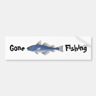 Gegangene Fischerei Autoaufkleber